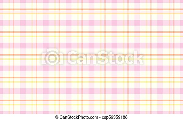 Background Of Checkered Pink Orange Yellow And White Stripes