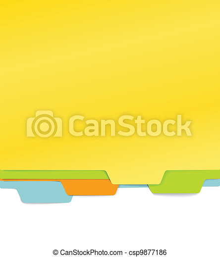 Background of color paper folders  - csp9877186