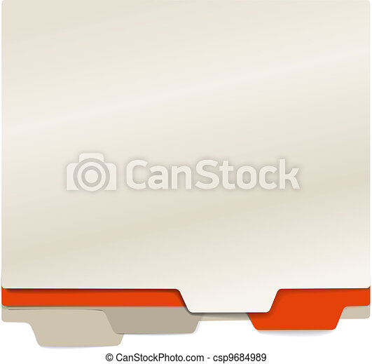 Background of color paper folders - csp9684989