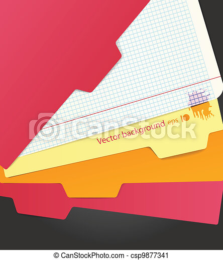 Background of color paper sheets  - csp9877341