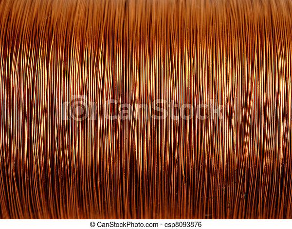 Background of copper wire - csp8093876