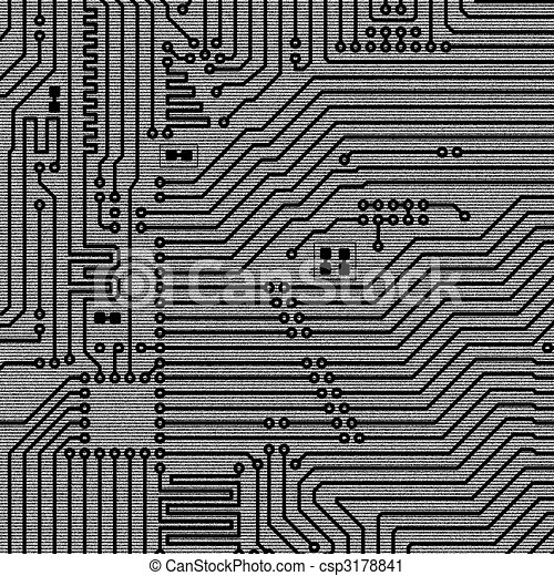 Background of electronic plate - csp3178841