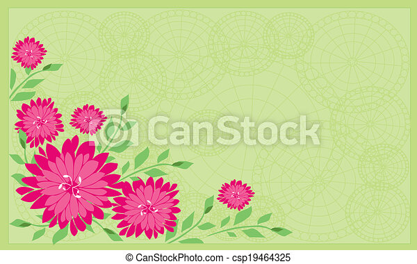 background of flowers - csp19464325