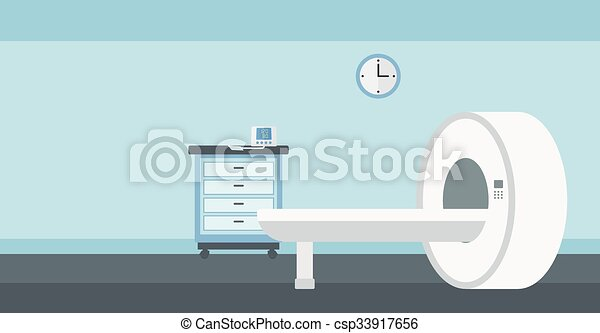 Background of hospital room with MRI machine