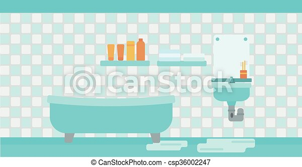 Background Of Leaking Sink In The Bathroom