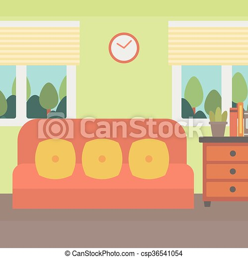 Vector. Background Of Living Room.   Csp36541054