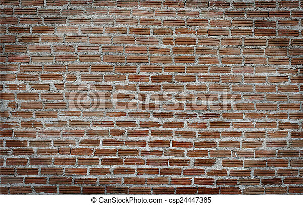 Background of old vintage brick wall - csp24447385