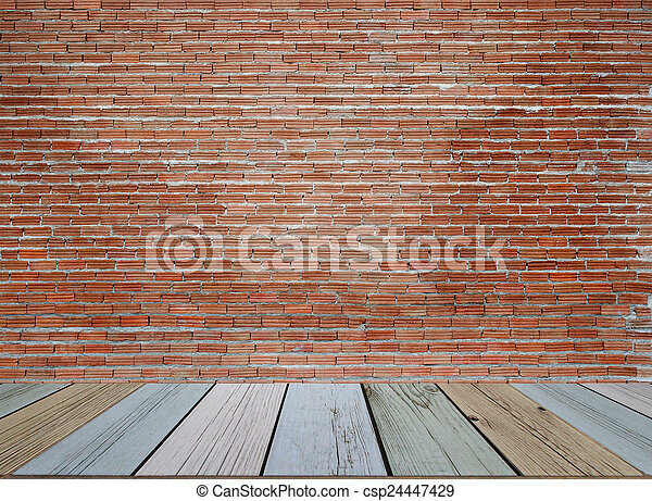 Background of old vintage brick wall - csp24447429