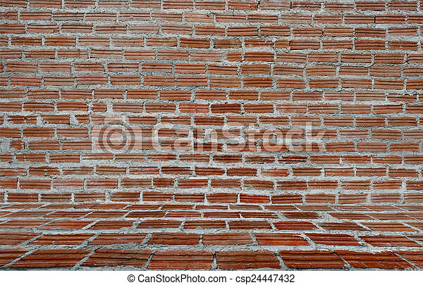Background of old vintage brick wall - csp24447432