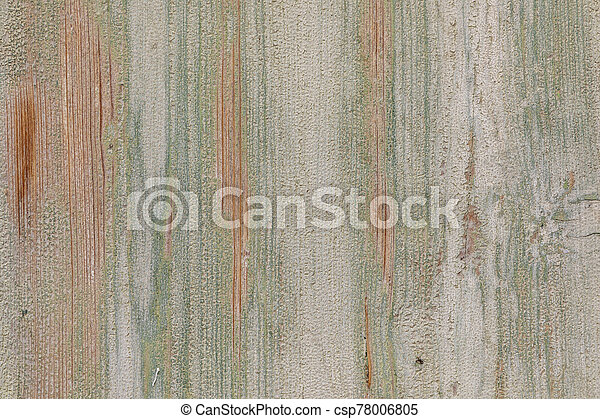 background of old wooden plank with peeling color - csp78006805