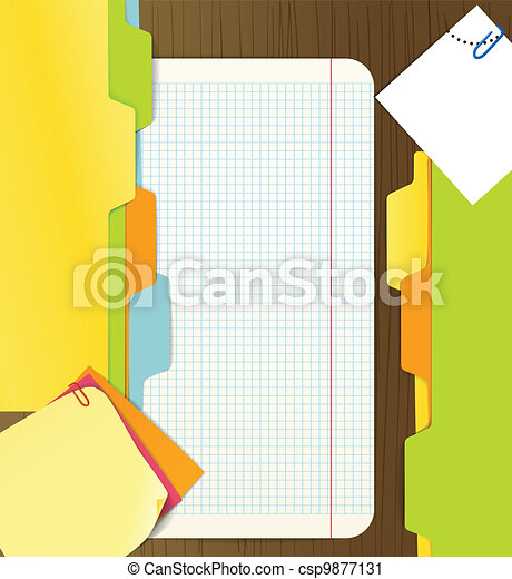 Background of paper sheets - csp9877131