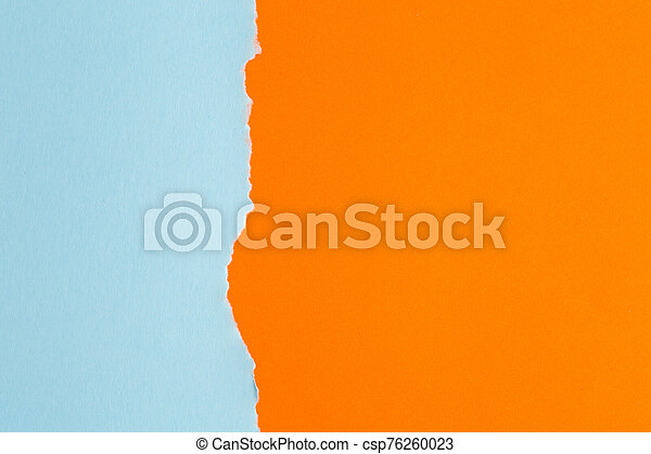 background of paper with a ragged edge in the middle - csp76260023