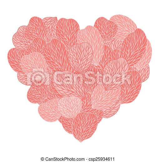 Background of pink flower petals. Vector illustranion - csp25934611