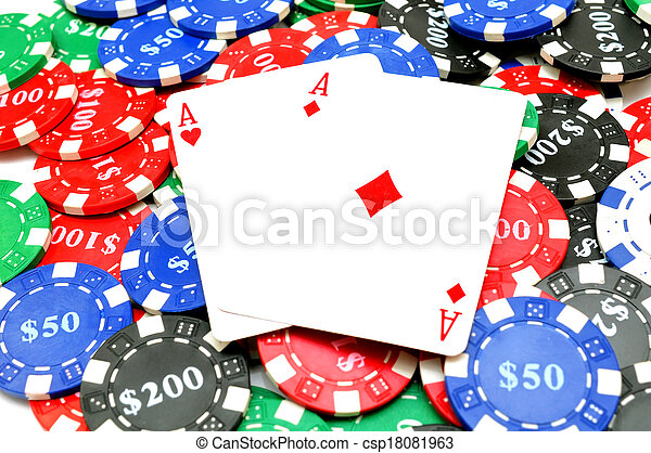background of poker chips - csp18081963