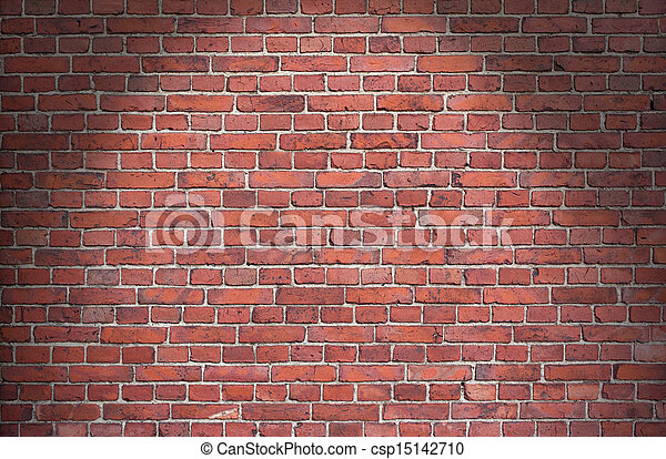 Background of red brick wall  - csp15142710