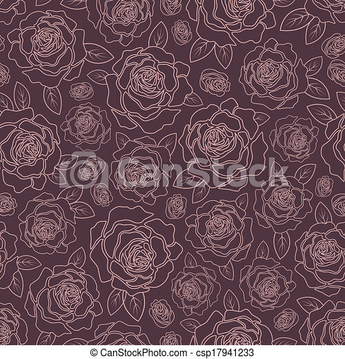 Background of roses - csp17941233
