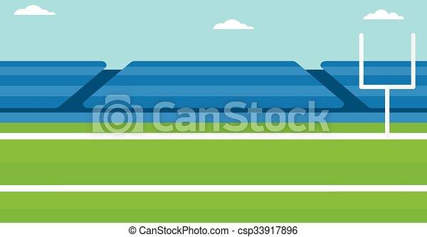 Background of rugby stadium. - csp33917896