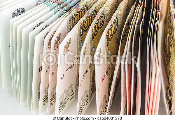 Background of Russian banknotes - csp24081370