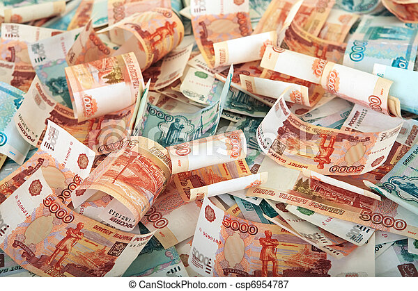 Background of Russian banknotes - csp6954787