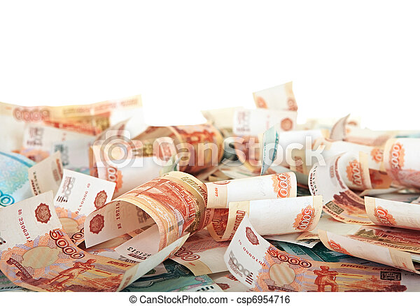 Background of Russian banknotes - csp6954716
