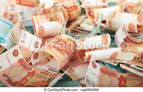 Background of Russian banknotes - csp6954684