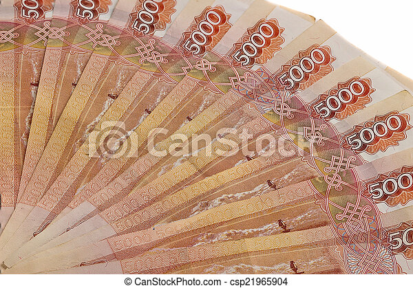 Background of Russian banknotes - csp21965904
