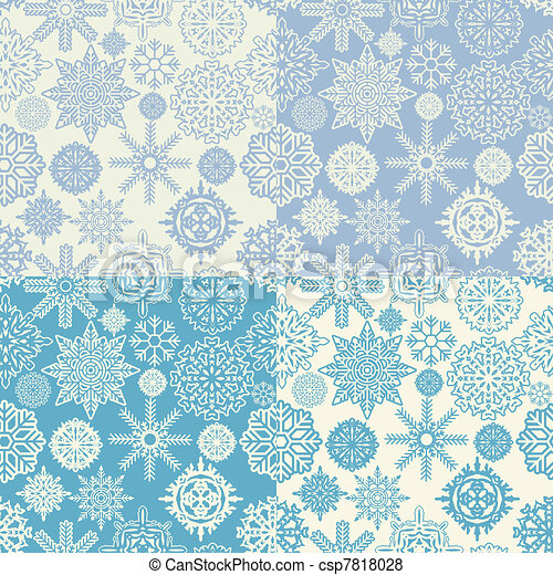 Background of snowflakes seamless - csp7818028