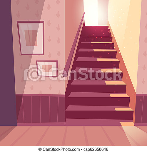 background of staircase, stairs in house - csp62658646