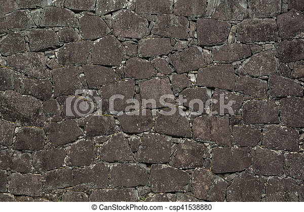 Background of stone wall texture - csp41538880