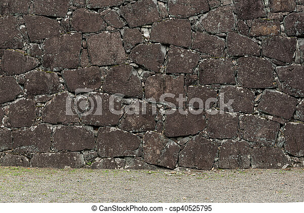 Background of stone wall texture - csp40525795