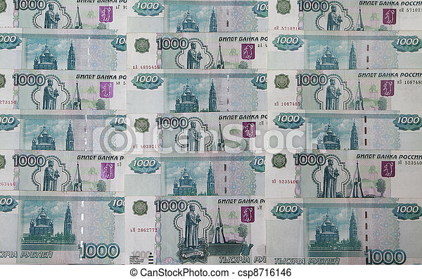 Background of the banknotes Rossisk - csp8716146