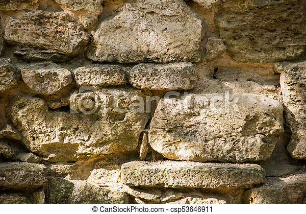 Background of the old stone wall - csp53646911
