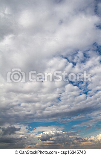 background of the sky with clouds - csp16345748