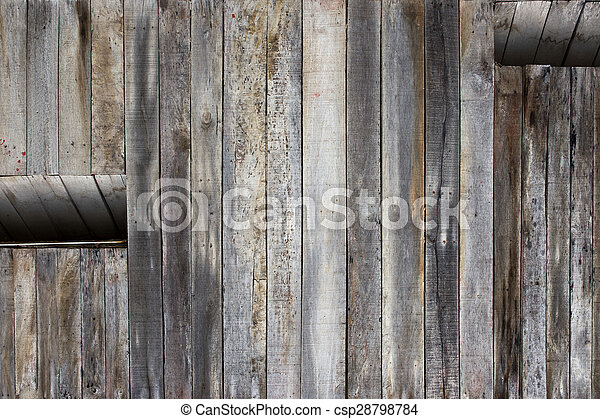 background of the wall of an old house with a window with room for text - csp28798784
