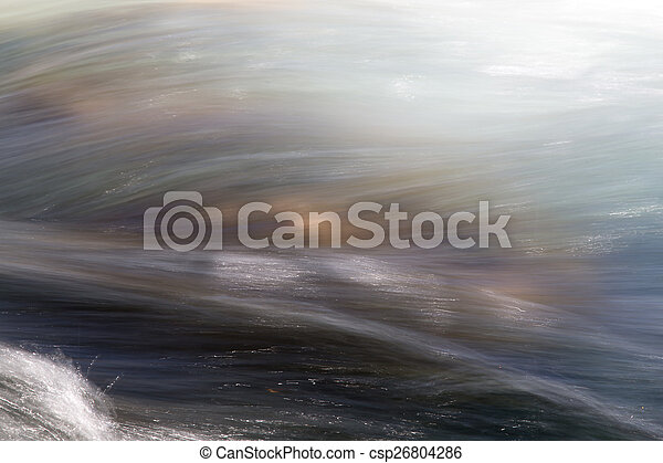 background of turbulent water in the mountain river - csp26804286