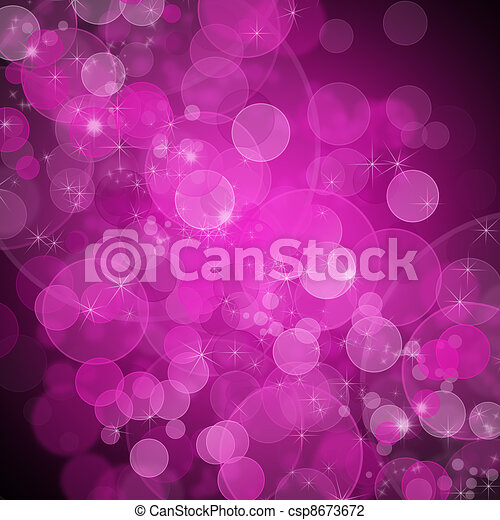 Background of unfocused pink lights with sparkles  - csp8673672