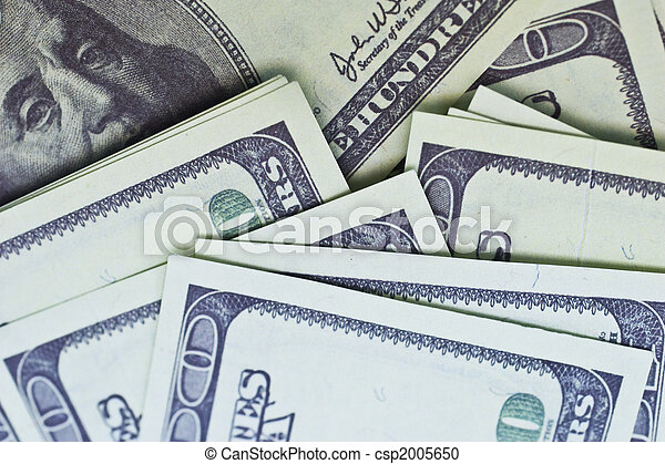 background of U.S. dollars - csp2005650