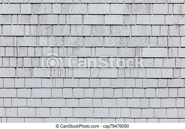 background of wooden shingles - csp79476090