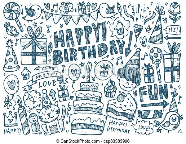 Background on the theme of a birthday - csp83383996