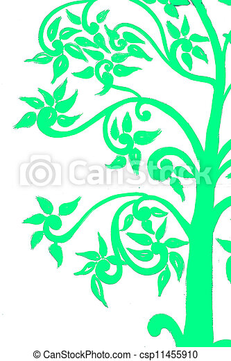 background on the tree green - csp11455910