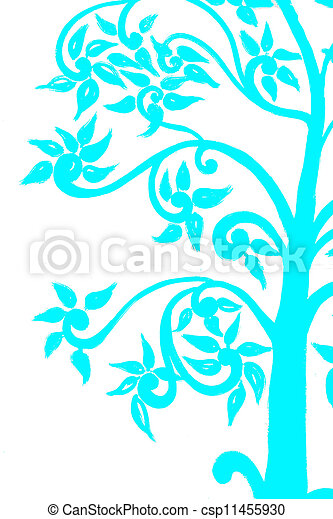 background on the tree sky blue - csp11455930