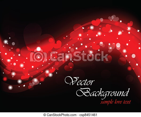 Background on Valentine day. Illustration with hearts - csp8451461