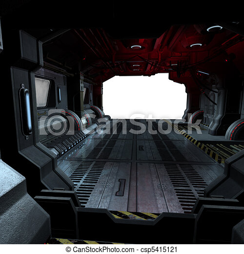 background or composing image inside a futuristic scifi spaceship - csp5415121