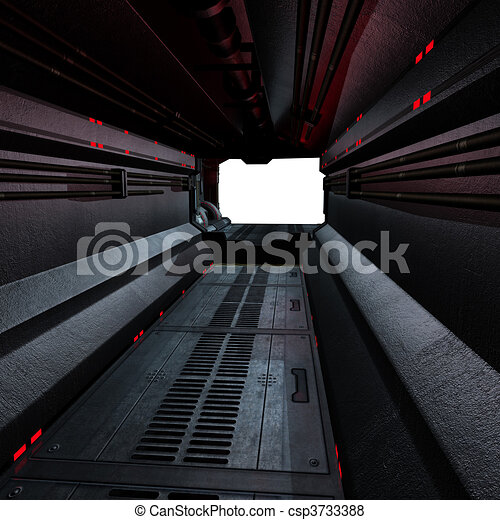 background or composing image inside a futuristic scifi spaceship - csp3733388