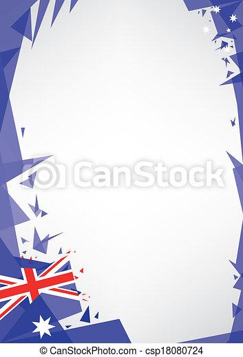 background origami of Australia - csp18080724