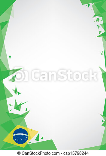 background origami of brazil - csp15798244
