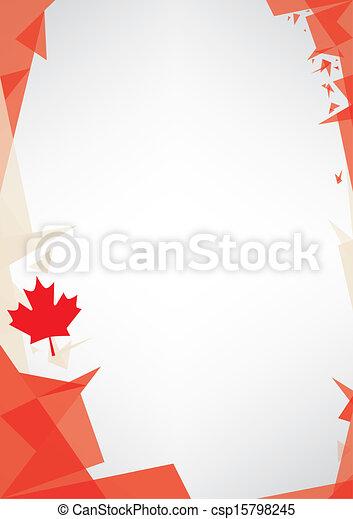 background origami of Canada - csp15798245
