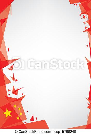 background origami of china - csp15798248