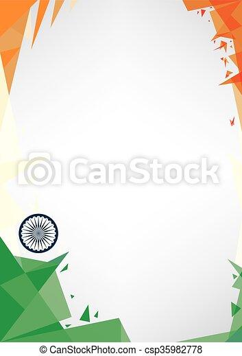 background origami of India - csp35982778