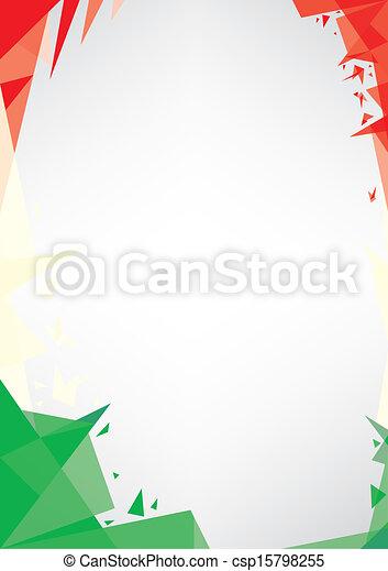 background origami of Italy - csp15798255